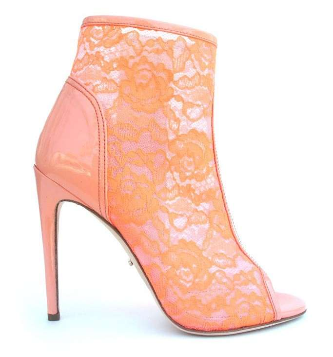 Ankle boot peep-toe Jerome Rousseau in pizzo