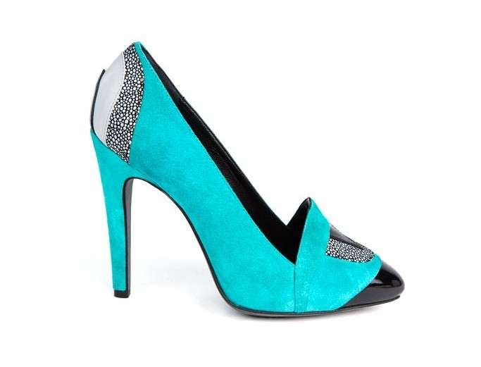 Pumps turchesi e nere