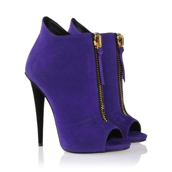 Ankle boot open-toe indaco