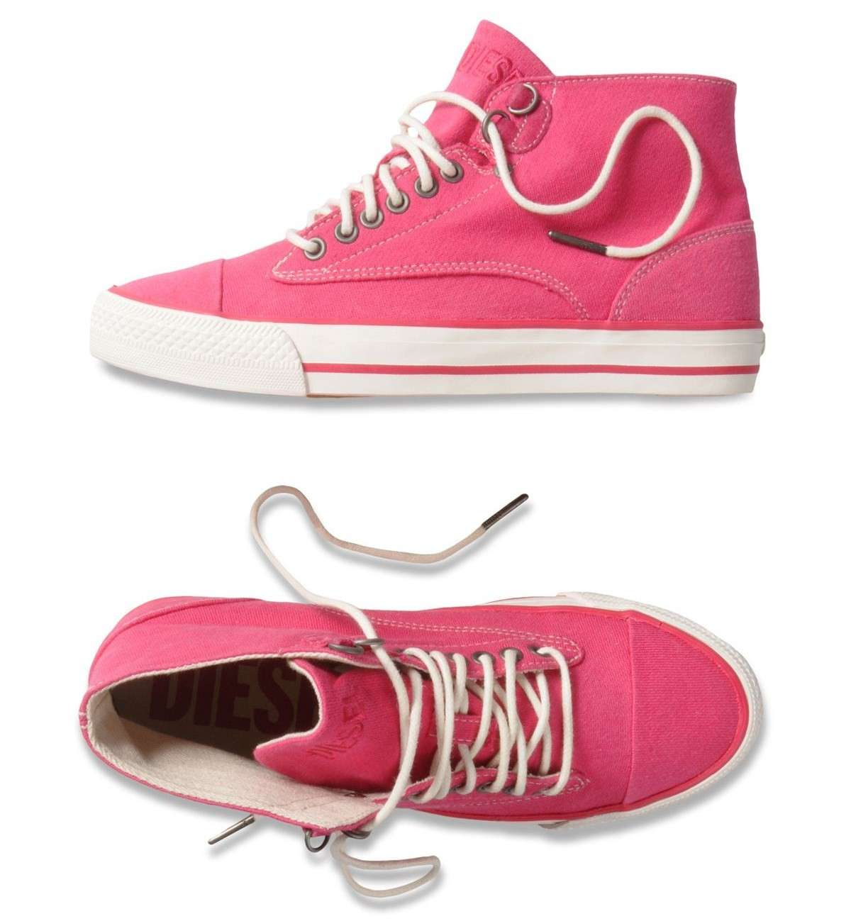 Sneakers in jersey rosa