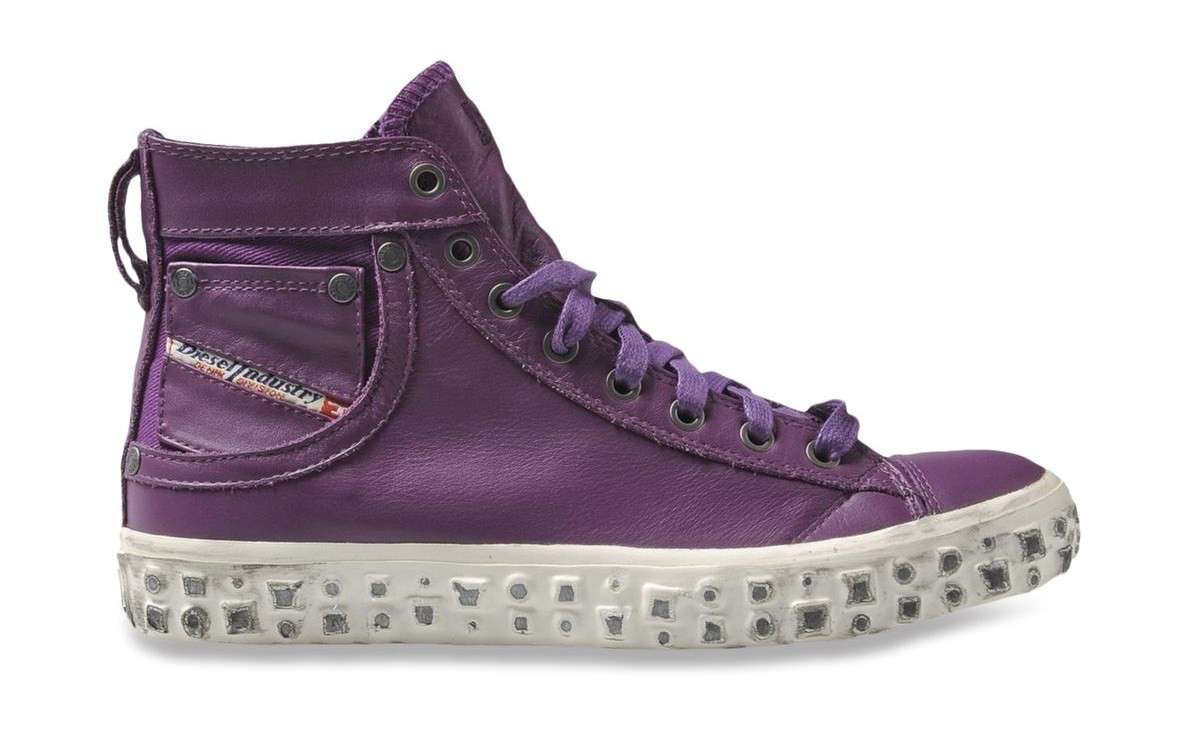 Sneakers in denim Diesel viola