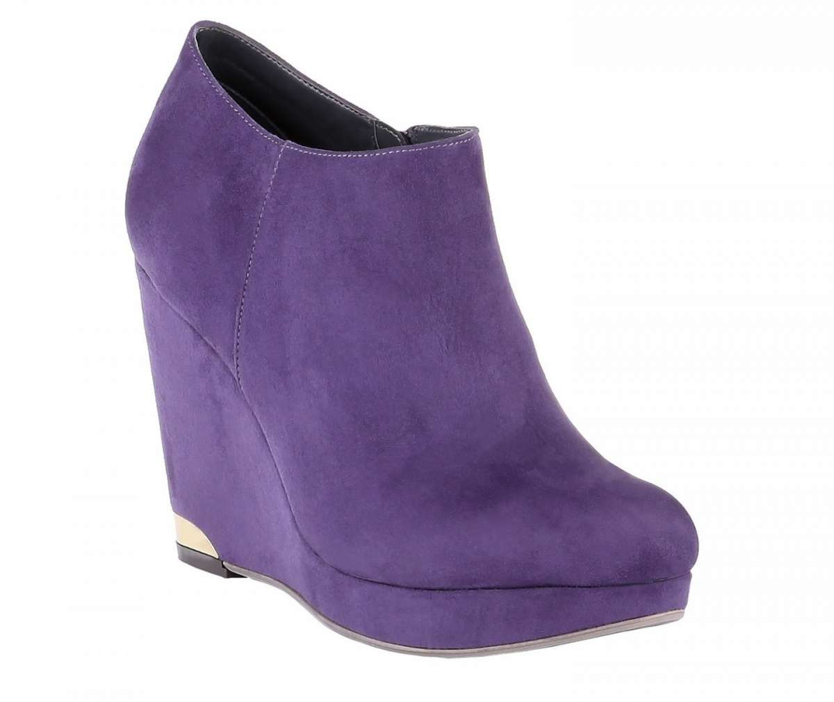 Ankle boot viola con zeppa
