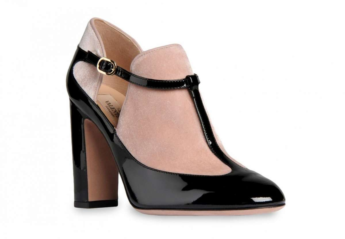 Ankle boot in vernice e suede Valentino