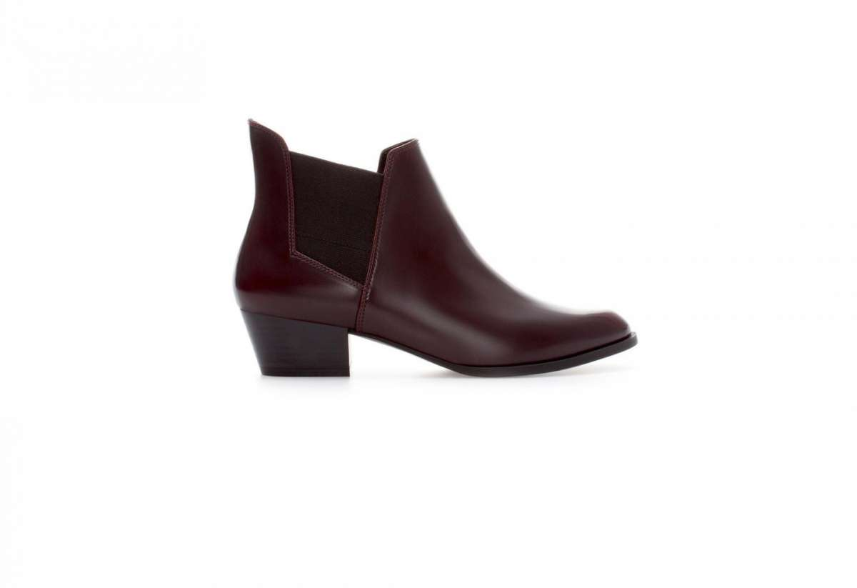 Ankle boot bordeaux Zara