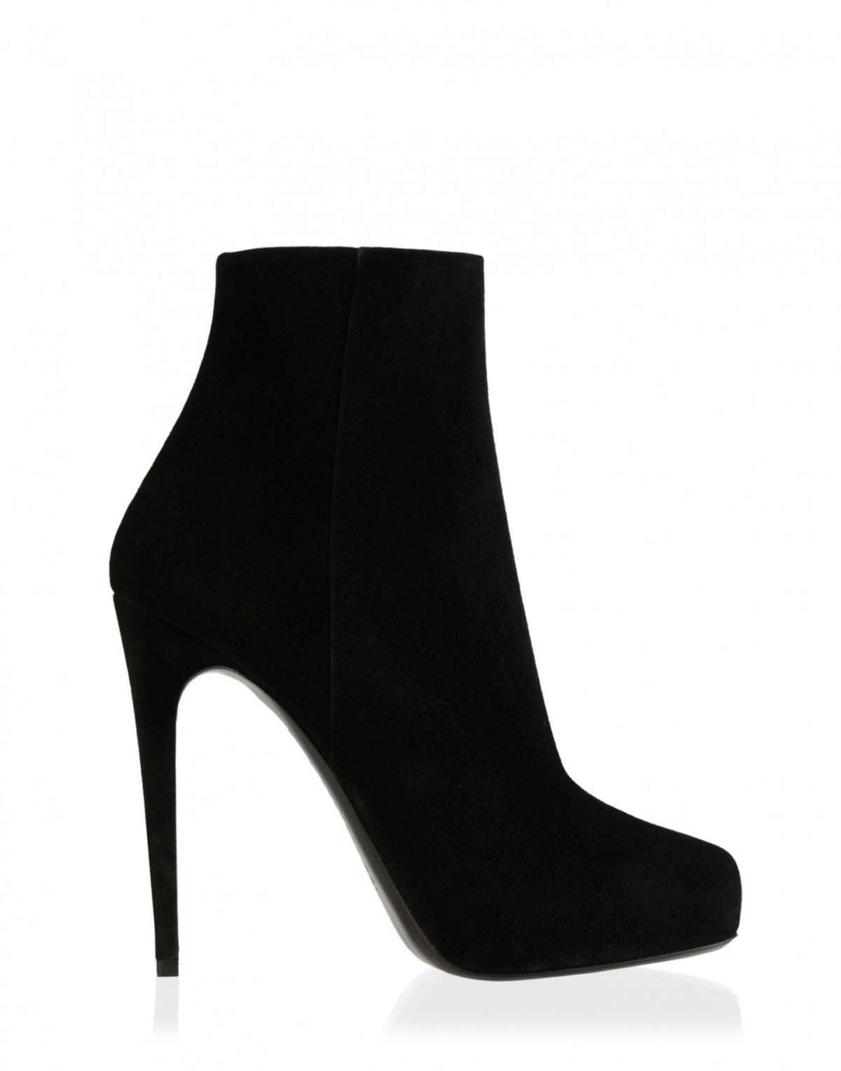 Ankle boot in suede platform