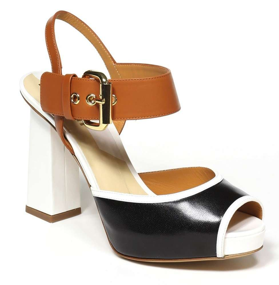 Sandalo color block Pollini