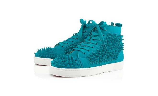 Sneakers turchesi con borchie e spuntoni primavera/estate 2014