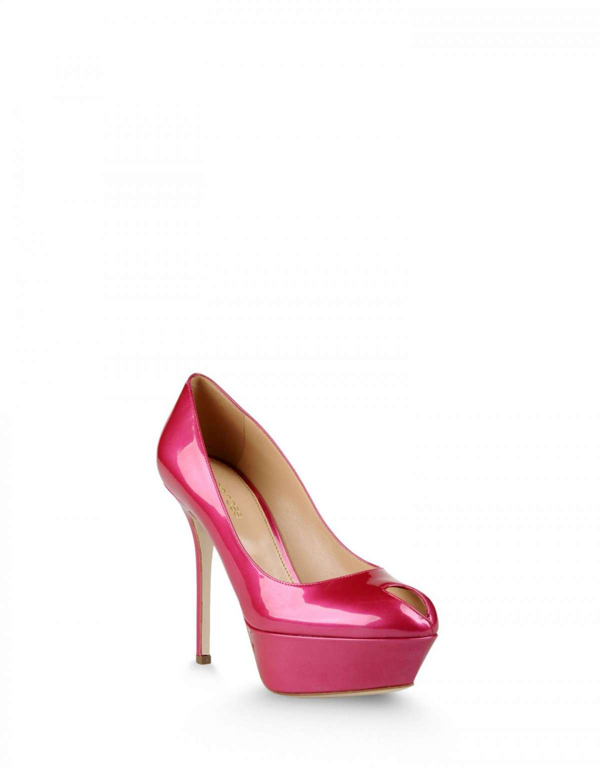 Pumps in vernice fucsia