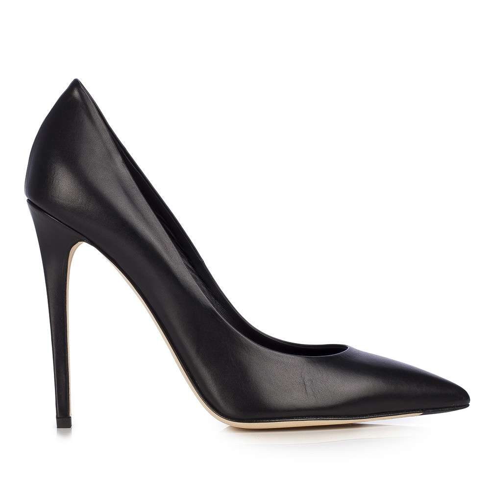 Pumps in pelle nera