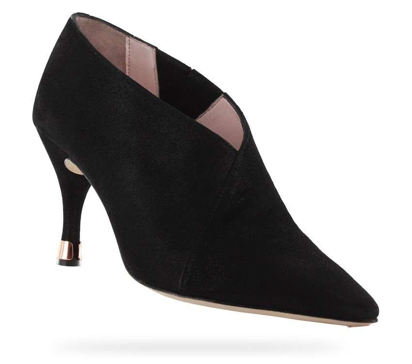 Ankle boots a punta total black