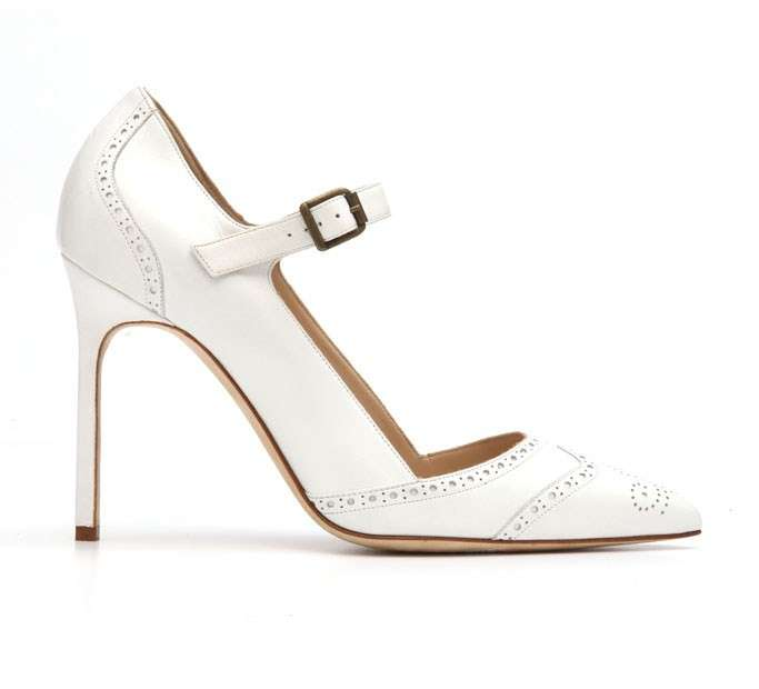 Mary jane laserata Manolo Blahnik