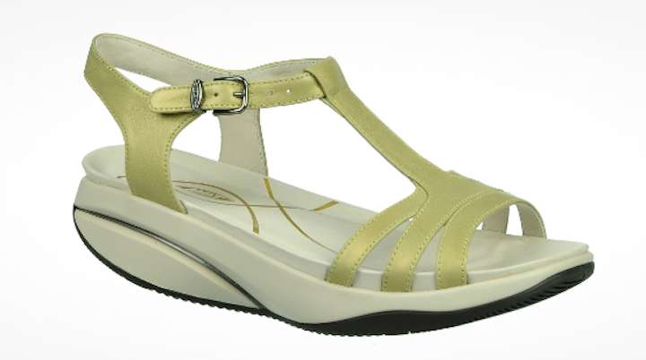 Sandaletto t-bar giallo tenue