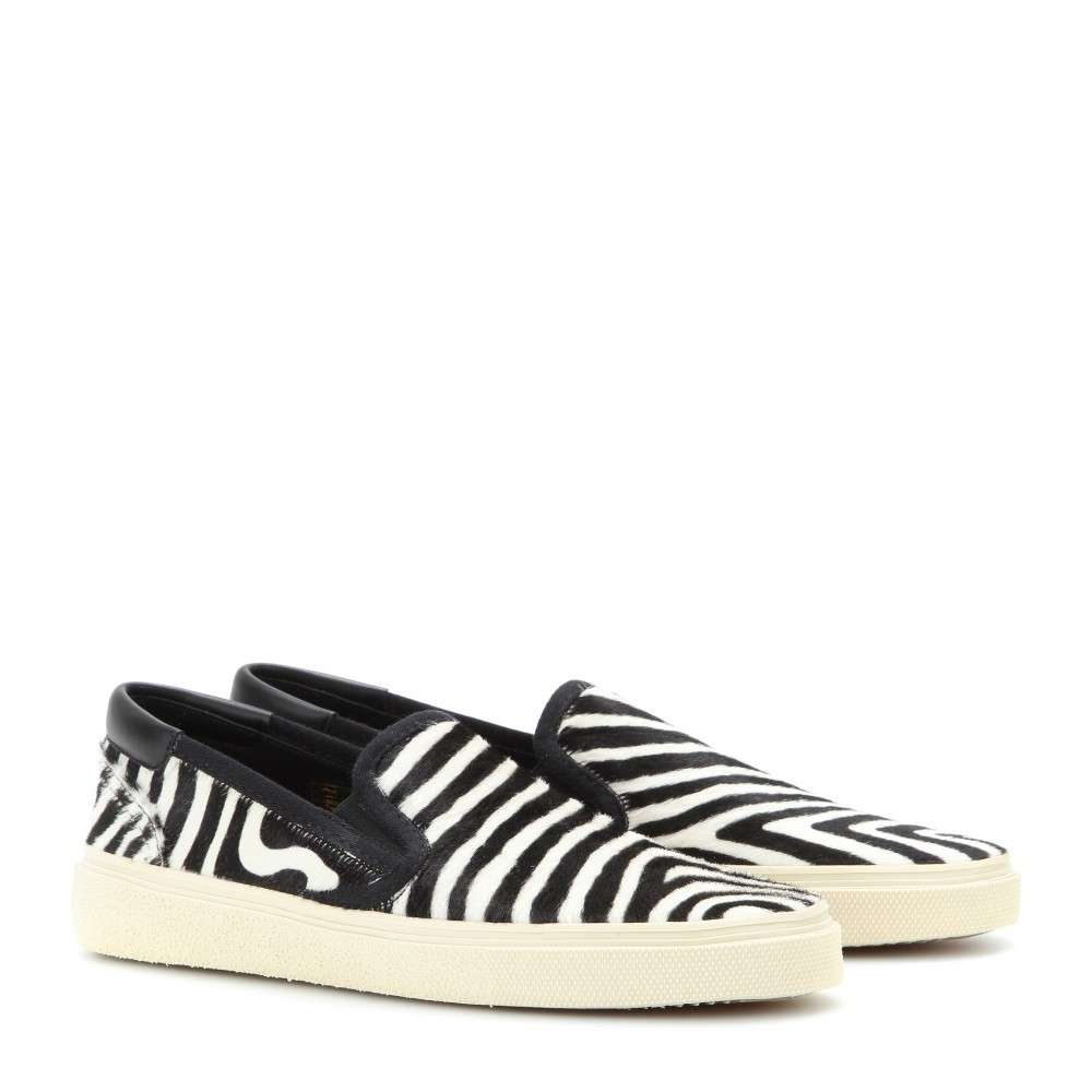 Slip on sneakers Saint Laurent zebrate