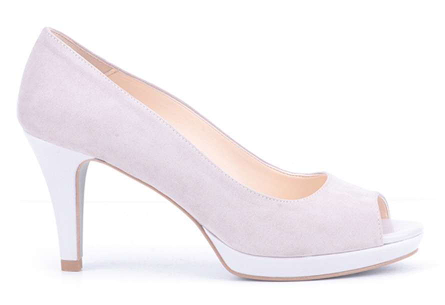 Pumps open toe bianche