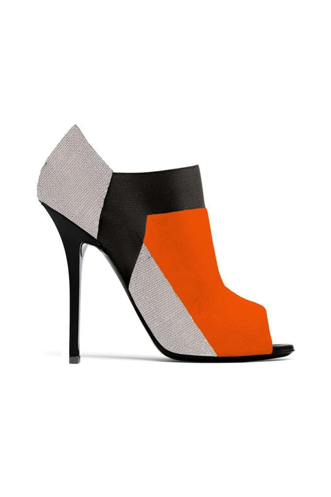 Ankle boot peep-toe Diego Dolcini in color block