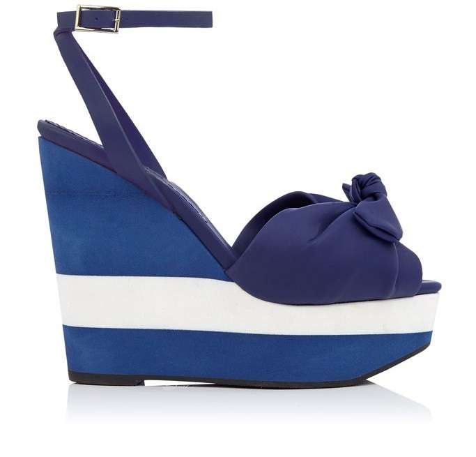 Zeppe a righe Charlotte Olympia