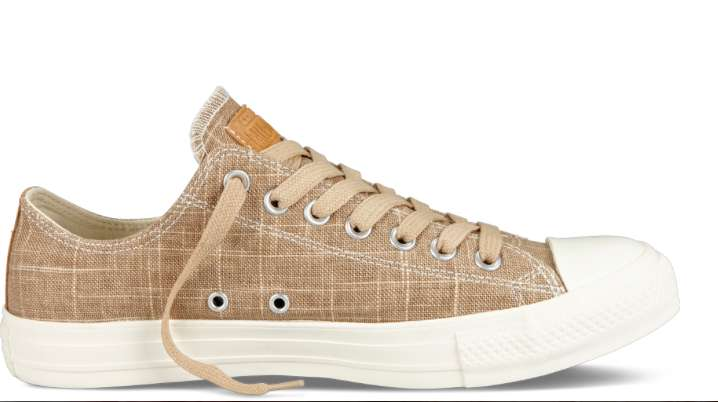 Sneakers basse color sabbia