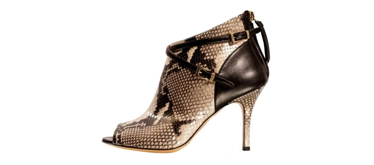 Ankle boot in rettile