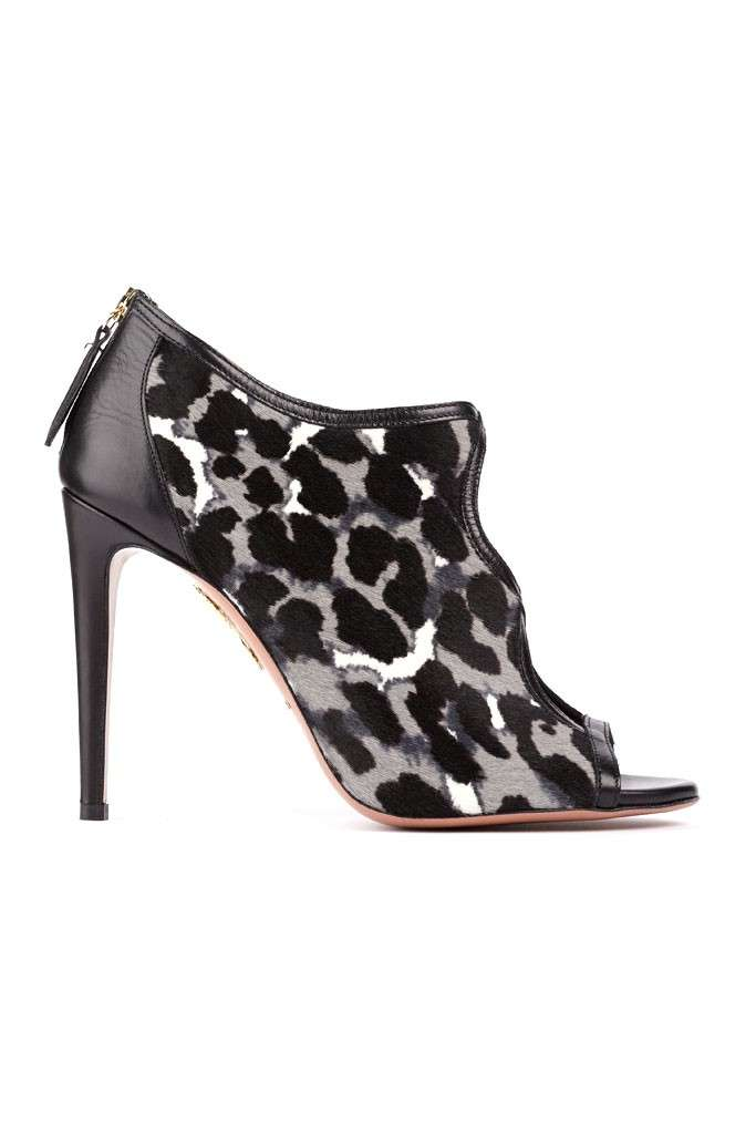 Ankle boots stampa animalier