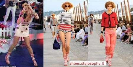 Katy Perry con boots Chanel