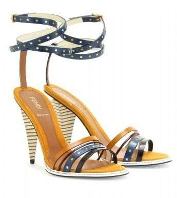 Scarpe Fendi, sandali in color block