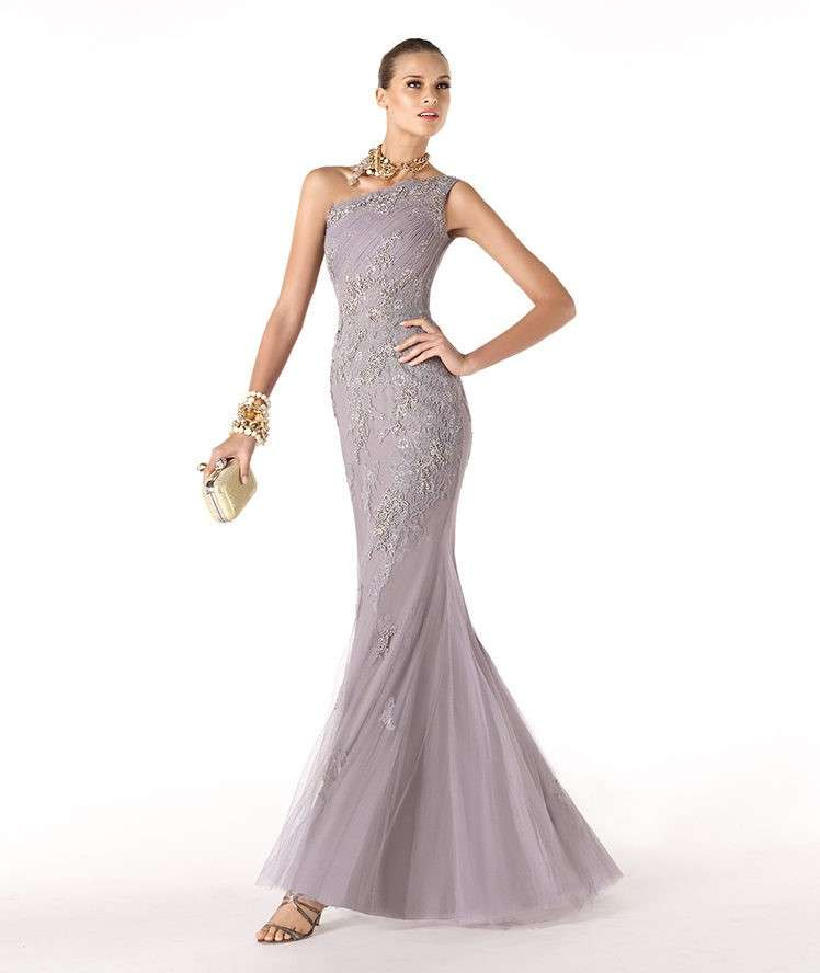 Long dress grigio da cerimonia