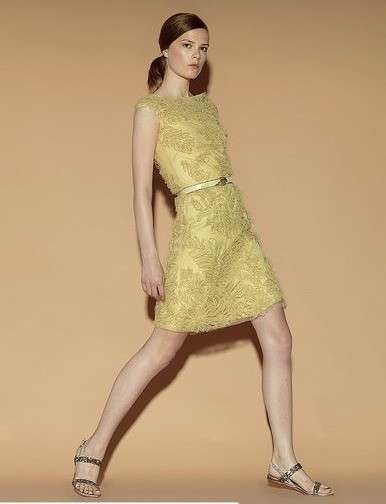 Minidress giallo di Valentino