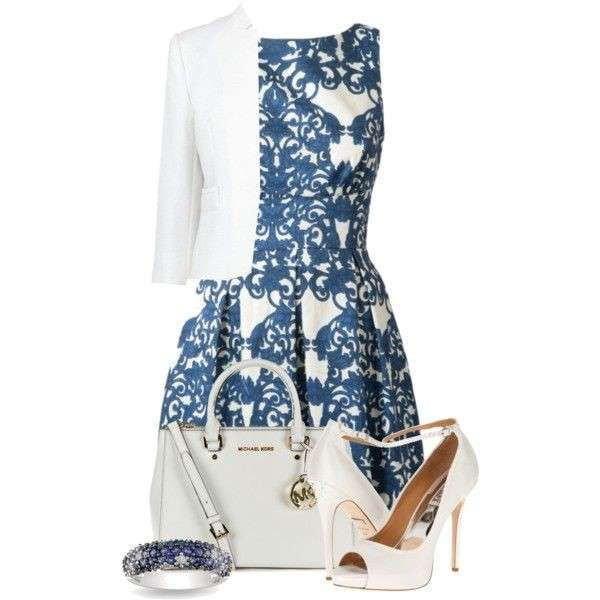 White & blue outfit