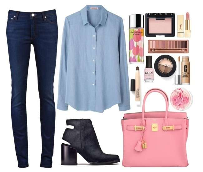 Mannish with pink