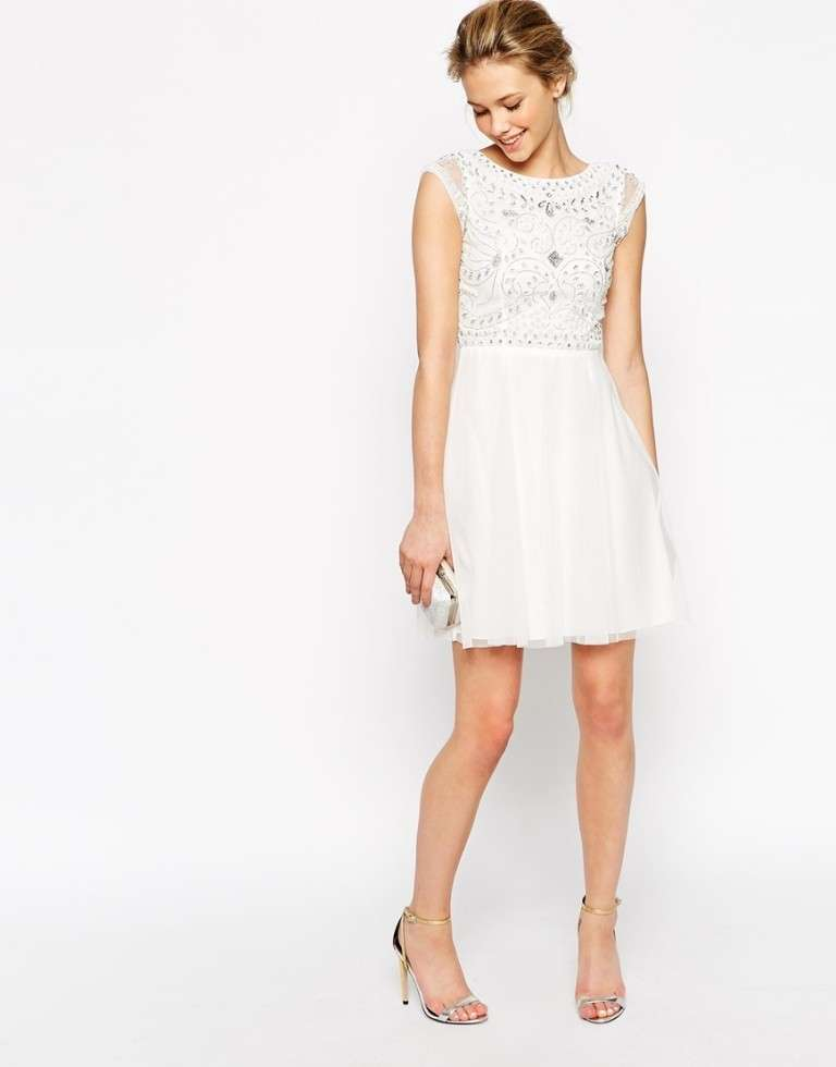 Minidress bianco Frock and Frill