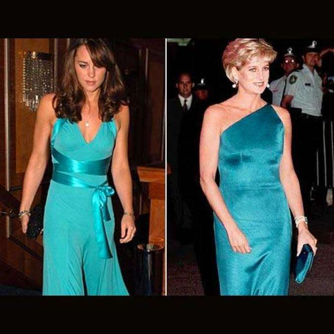 Lady D e Kate in verde