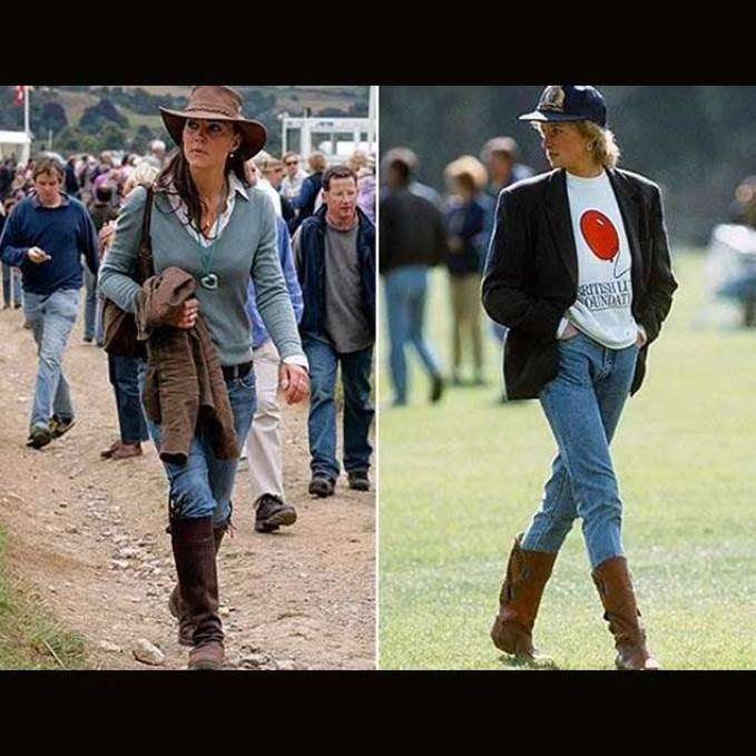 Look country per Lady D e Kate