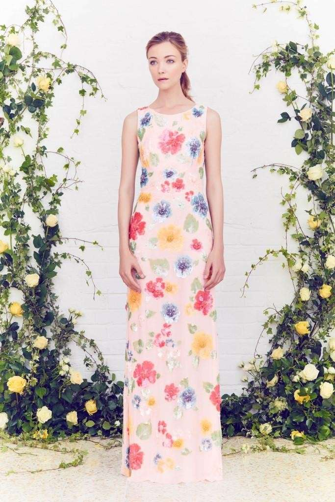 Long dress a fiori Jenny Packham