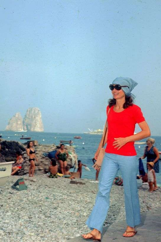 Jackie Kennedy in vacanza a Capri
