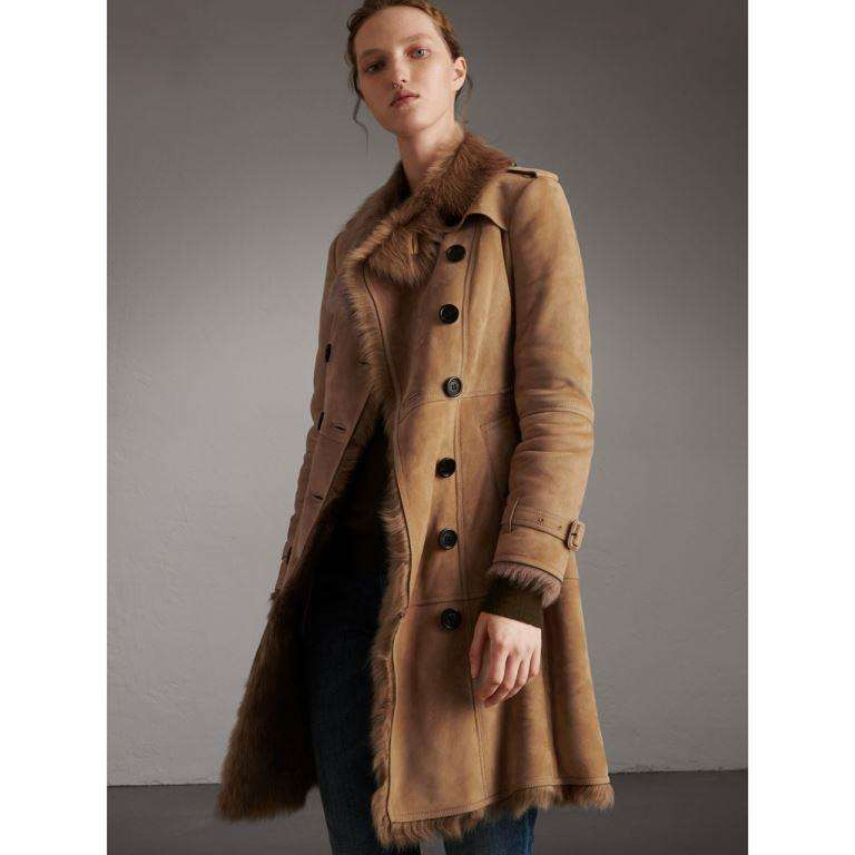 Burberry trench coat in shearling