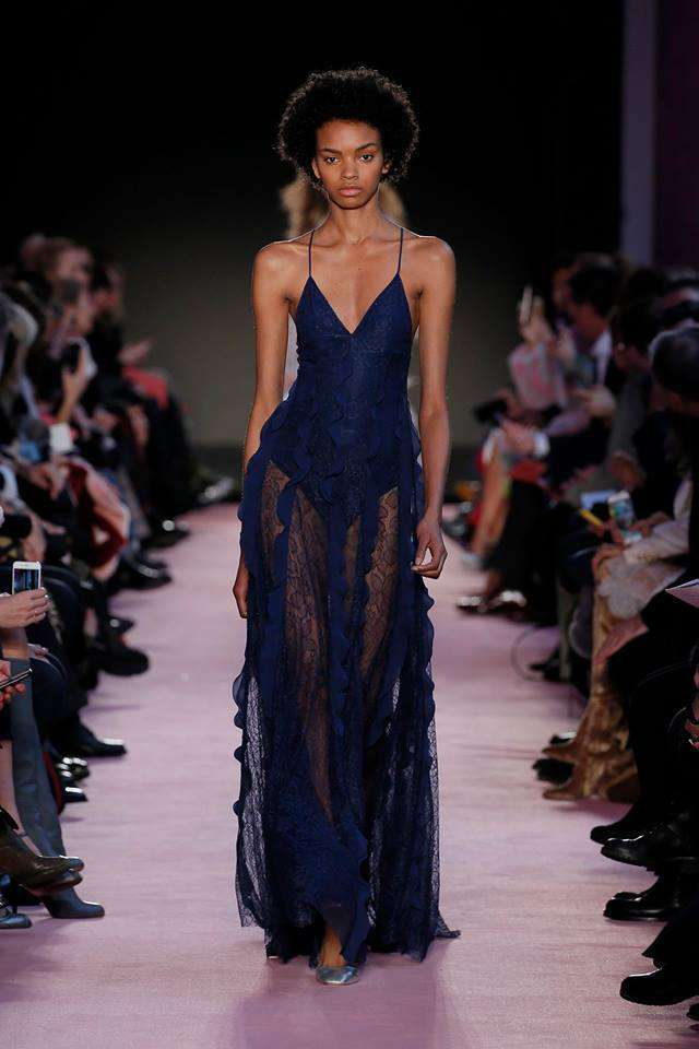 Lingerie dress blu Blumarine