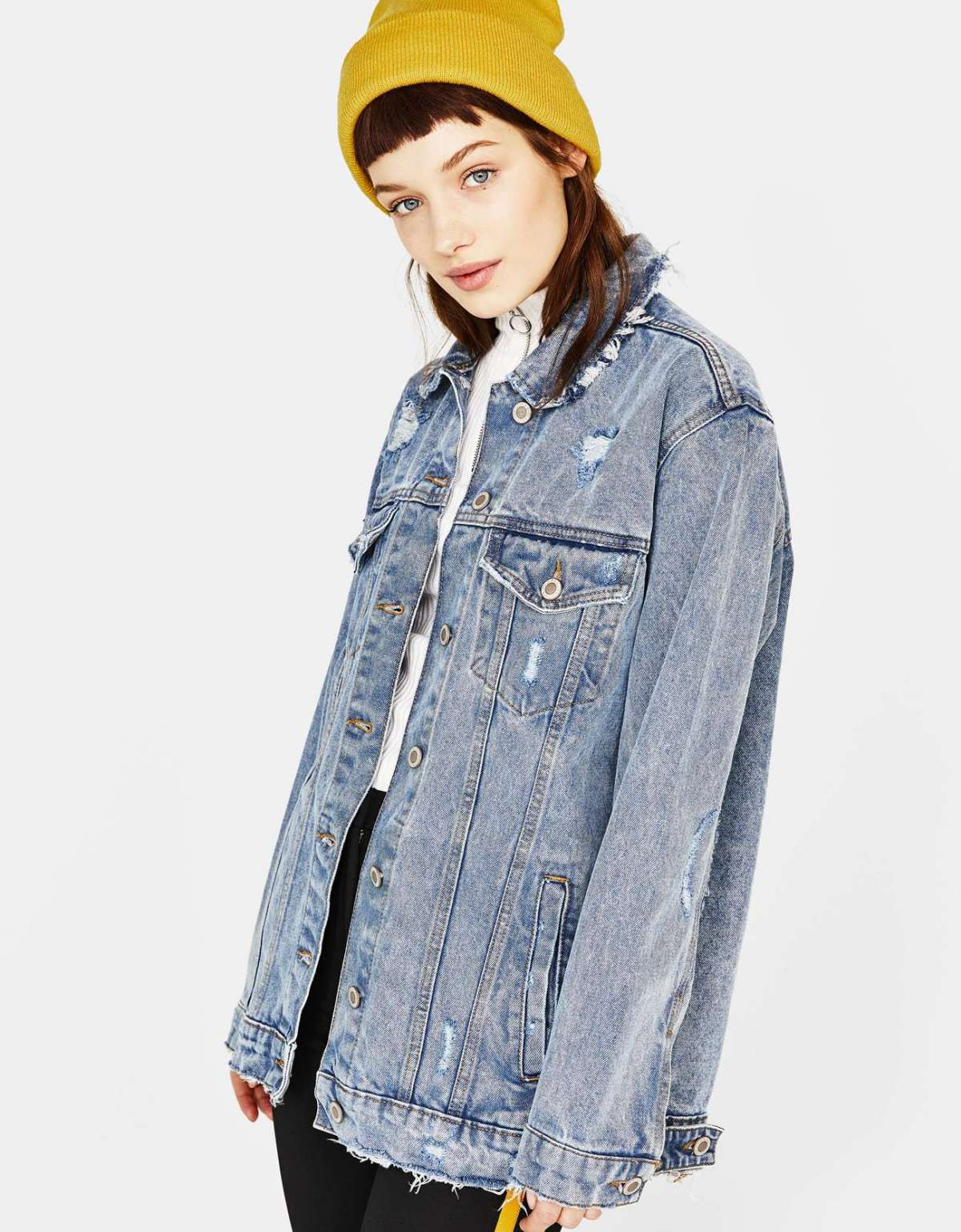 Giubbotto in denim oversize Bershka