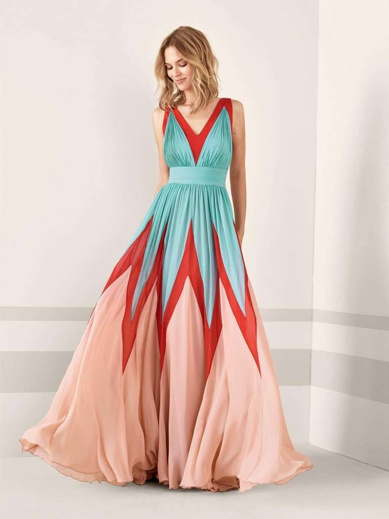 Maxi dress multicolor Pronovias