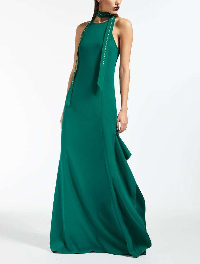 Long dress verde Max Mara