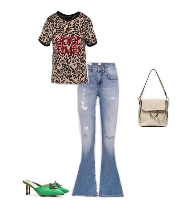 Look casual animalier