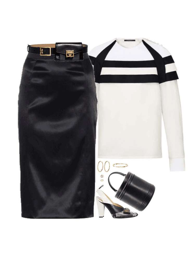 Look black and white autunnale