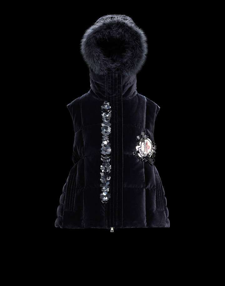 Moncler gilet in velluto