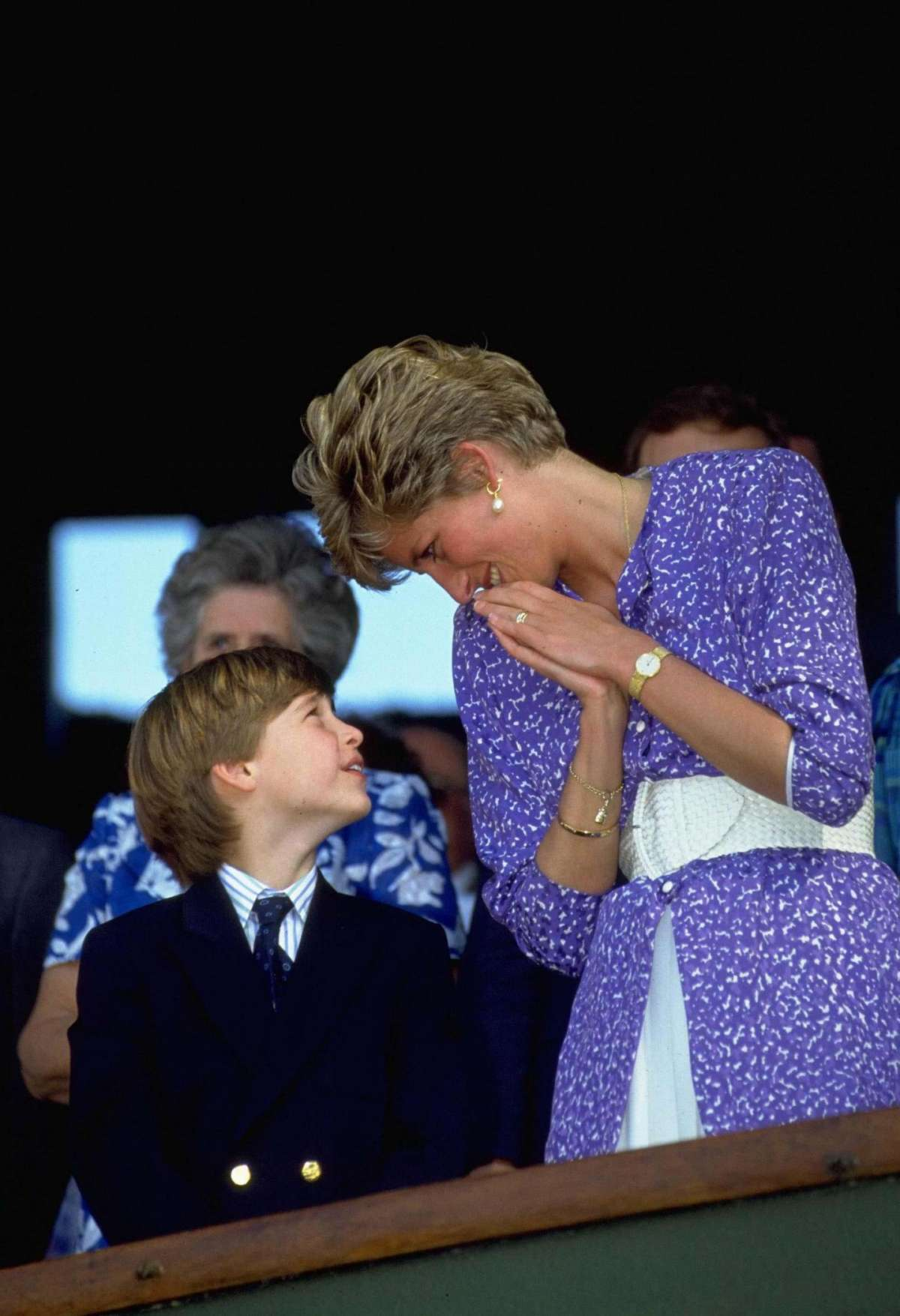 Abito blu di Lady Diana con il principe William