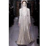 Long dress bianco e argento di Valentino