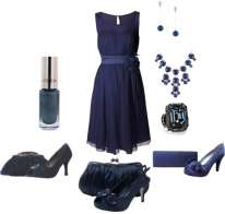 Outfit blu scuro