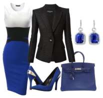 Outfit formale blu elettrico