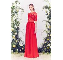 Long dress rosso Jenny Packham