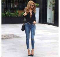 Jeans e body lace-up