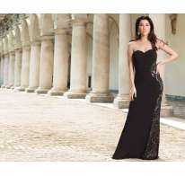 Long dress con pizzo
